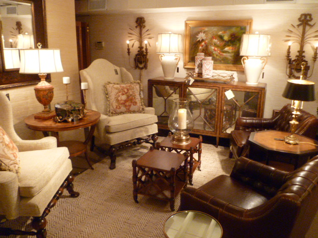 Mallory-Fields Interior Design Showroom featuring high end home living room furnishings and accessories